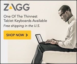 Zagg.com - One of the thinnest tablet keyboards available
