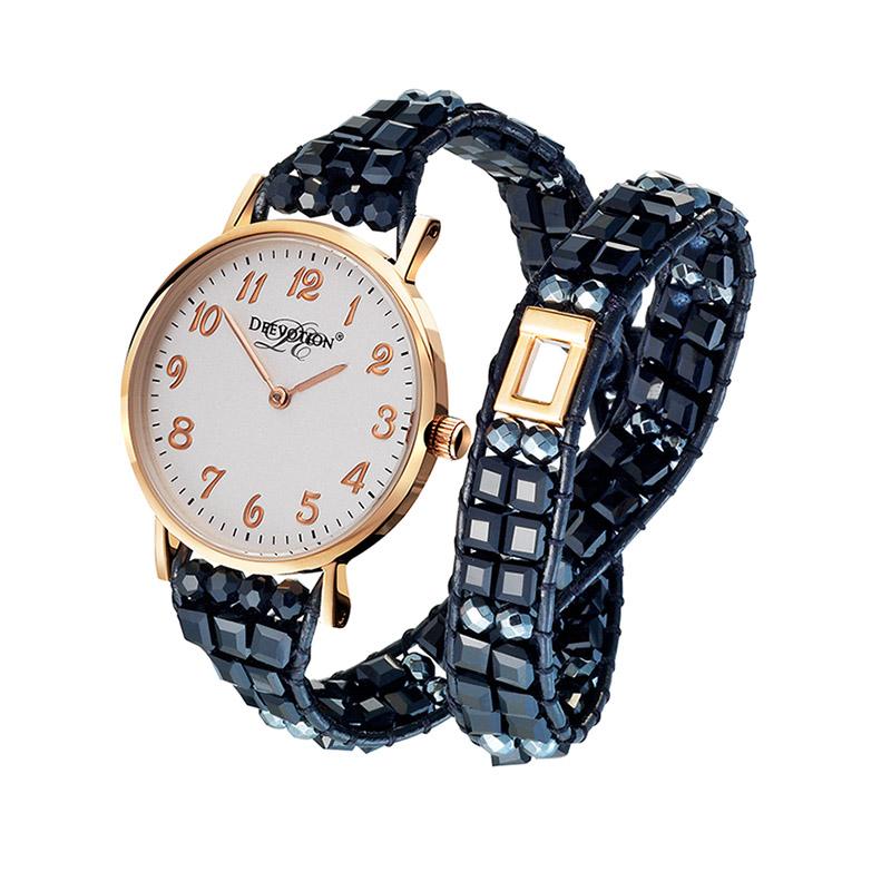 Dámské hodinky Deevotion Pure Black Rose Gold Deewatch
