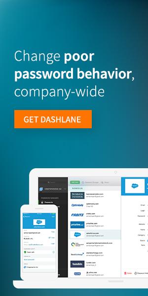 Dashlane Business - Change poor password behavior