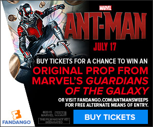Fandango - Ant-Man Movie Prop Sweepstakes