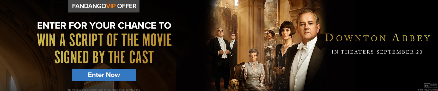 1680x350 'Downton Abbey' Sweepstakes - Enter for your chance to win a script of the movie signed by