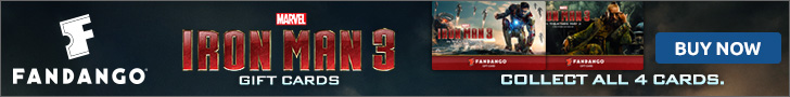 Collect all 4 Iron Man 3 Gift Cards!