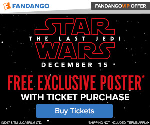 Free Poster with Star Wars: The Last Jedi Tickets