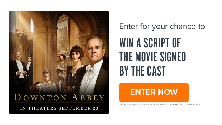 750x422 'Downton Abbey' Sweepstakes - Enter for your chance to win a script of the movie signed by t