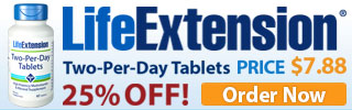 Life Extension Discount Code 25% Off Two-Per-Day Tablets