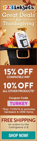 15% Off Compatible Ink, 10% Off All Other Products
