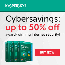 Up to 50% off Kaspersky Home Security