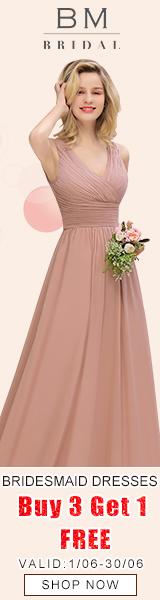 Elegant Bridesmaid Dresses, Buy 3 Get 1 Free