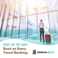 Cash back on every travel booking