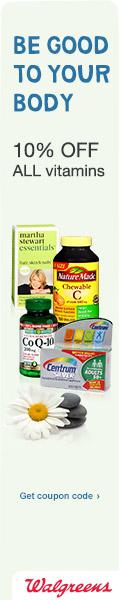 10%  Off All Vitamins at Walgreens