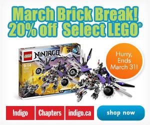 Let's Go: Spring Break! 20% Off Select LEGO at Indigo.ca!