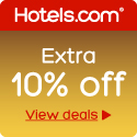 10% Off at Hotels.com with OCTOBER10OFF! Book by 10/14, Travel by 12/31