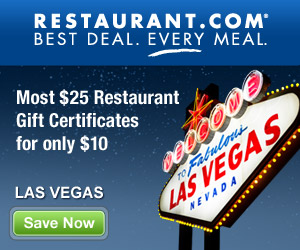 Las Vegas - Most $25 Gift Certificates for $10