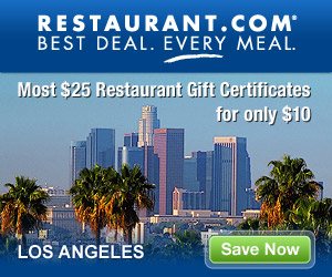 Los Angeles - Most $25 Gift Certificates for $10