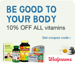 10%  Off All Vitamins at Walgreens