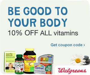 10%Off All Vitamins at Walgreens
