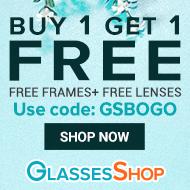 BOGO Buy 1 Get 1 FREE (Frame + Lenses). Code: GSBOGO