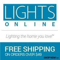 Shop more than 50 lighting and home decor brands at LightsOnline.com!