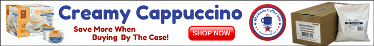 Wholesale prices on creamy cappuccino