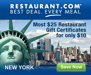 New York City - Most $25 Gift Certificates for $10