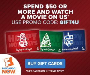 Spend $50+ on FandangoNOW Gift Cards and Watch a Movie on Us