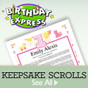 Personalized Keepsake Scrolls