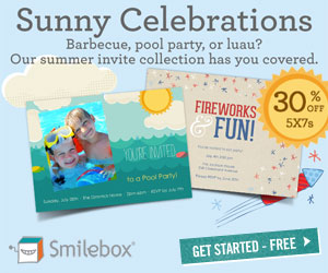 30% discount on 5x7 invitations from Smilebox.