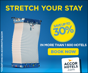 Accor Hotels Stretch Your Stay, THE MORE YOU STAY, THE MORE YOU SAVE, Save up to 30%