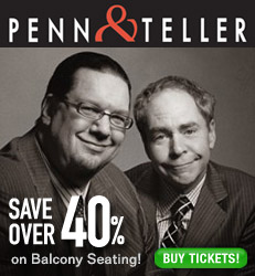 Penn & Teller Save 40%