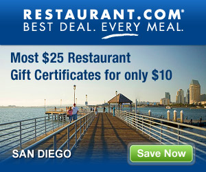 San Diego - Most $25 Gift Certificates for $10