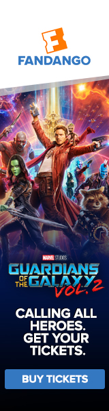 Fandango - Guardians of the Galaxy Vol. 2 Ticketing Banner