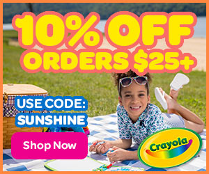 10% off $25+ with SUNSHINE