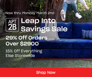 Image for Leap Year Sale! Get 15% Off Sitewide or 29% Off Orders Over $2,900! Plus, Free Delivery on Every Order!
