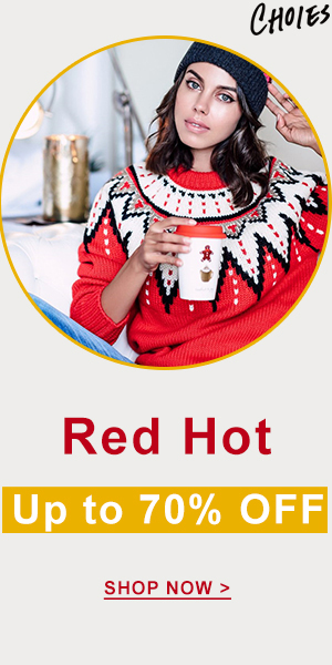 Show your passion,Warm the season! Red Hot is so ready for you! Up to $70 OFF!