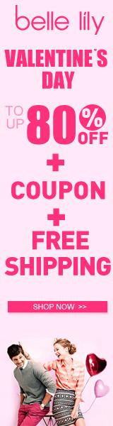Valentine's Day ,Valentine sale, Bellelily, fashion,women's fashion , coupon, big discount, lowest,