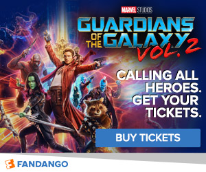 Fandango - Guardians of the Galaxy Vol. 2 Ticketing Banner