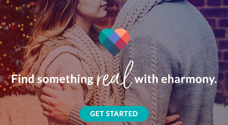 Find Something real with eharmony - 728x400