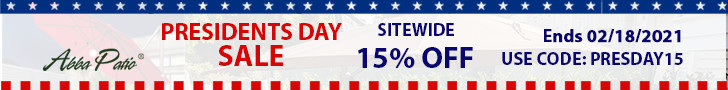 President's Day Sale! Sitewide 15% Off on All Canopies, Gazebos, Carports & More! Code PRESDAY15. En