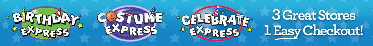 CelebrateExpress.com : 3 Great Brands, 1 Easy Checkout!