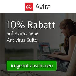 10% Gutschein für die Avira Antivirus Suite