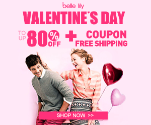 Valentine's Day ,Valentine sale, Bellelily, fashion,women's fashion , coupon, big discount, lowest,