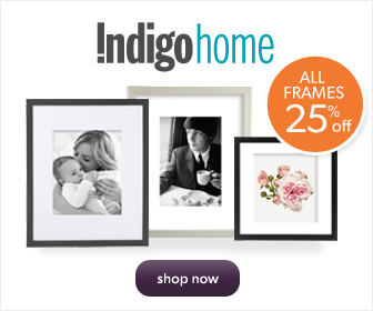 Save 25% on All Frames at Chapters.Indigo.ca! Offer ends Oct. 28th.