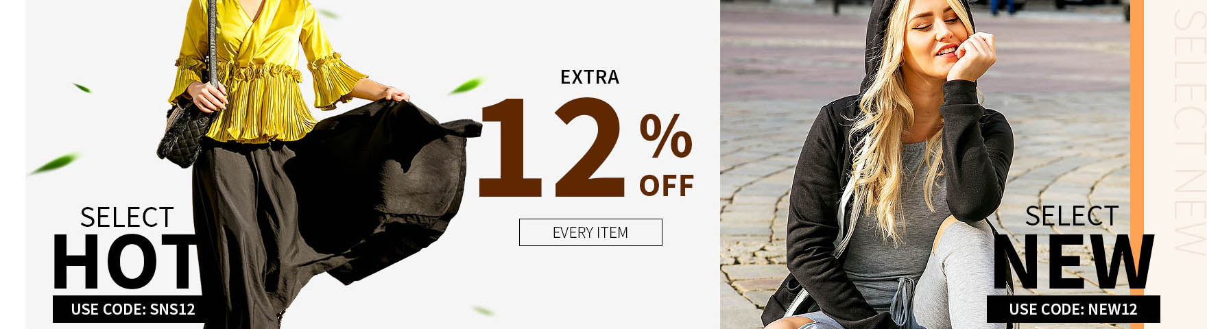 2020 Every Item Extra 12% Off CODE: new12, Shop Now!