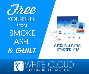 White Cloud Cirrus 3 Electronic Cigarette Starter Kit