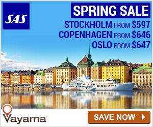 Vayama.com - Spring Sale to Scandinavia and Europe with Scandinavian Airlines!