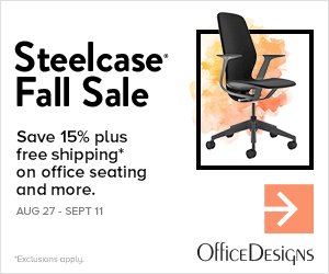 Image for Steelcase Fall Sale 15% off + Free Shipping (Valid 8/27/19 - 9/11/19)