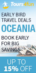 Early Bird to Oceania: Up to 25% off fun for early birds