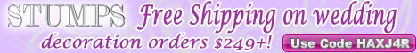 Save 10% on wedding favor orders $249+