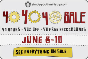 40% off at SimplyYouthMinistry.com