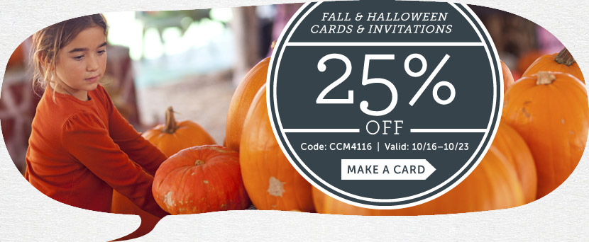 Save 25% off Fall, Halloween &...
